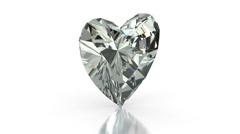 Heart Cut Diamond Stock Footage