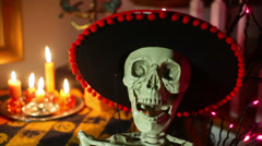Day of the dead mariachi 3 Stock Footage