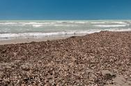 Stock Photo of Uncleared beach in low season, Italy
