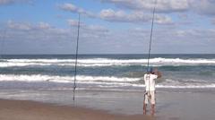 Fisherman net Stock Footage
