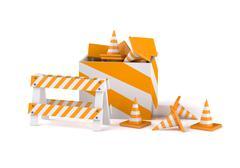 traffic cones - stock illustration