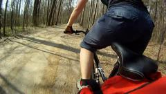 Girl rides a bicycle Stock Footage