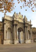 Gates of dolmabahce palace in istanbul Stock Photos