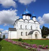 cathedral of the nativity in suzdal kremlin - stock photo