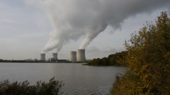 Nuclear power station 3 Stock Footage
