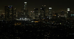 Ultra HD 4K Aerial View Los Angeles Downtown Skyline High Rise Office Towers LA Stock Footage