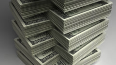 Stack of Dollar Stock Footage