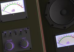 Retro amplifier Stock Illustration