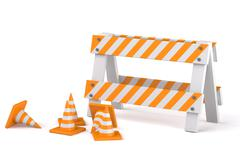 traffic cones - stock illustration