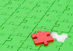puzzle - stock illustration
