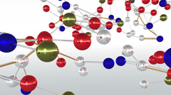 4K Complex Molecule Structure 2 Stock Footage