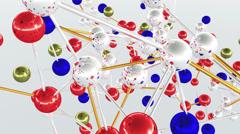 4K Complex Molecule Structure 3 Stock Footage