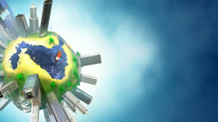 Mini-world during daytime. Copy-space  version - HD Stock Footage
