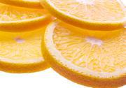 Background with citrus-fruit of orange slices. closeup. Stock Photos