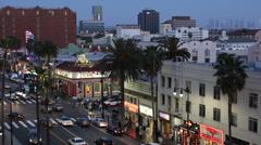 Nightlife Businesses Hollywood Boulevard Los Angeles Restaurants Nightclubs US Stock Footage