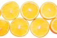 Orange fruit background. Stock Photos