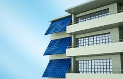 Photovoltaic module Stock Illustration