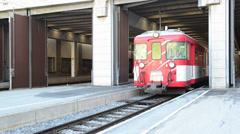 The train in swiss alps , Switzerland - stock footage