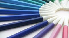 Felt-tip pens rotating loop Stock Footage