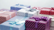 Stock Video Footage of present box rotating background