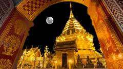 Wat Phra That Doi Suthep Famous Temple of Chiang Mai Thailand Stock Footage
