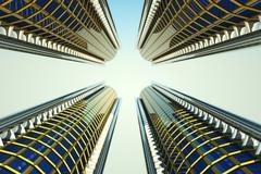 skyscrapers - stock illustration
