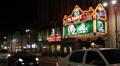 Illuminated Hollywood Boulevard Car Passing Rush Hour Night El Capitan Theater Footage