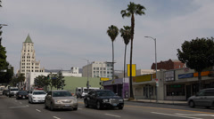 Highland Avenue Rush Hour Afternoon Car Traffic Commuters Commuting Los Angeles Stock Footage