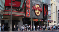 Hollywood Boulevard Dolby Theatre Hard Rock Cafe Walk Fame People Crowds Passing Footage