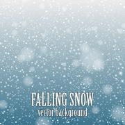 falling snow - stock illustration