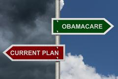 Current plan versus obamacare Stock Photos