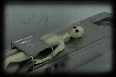Alien autopsy 8 mm color version Stock Footage