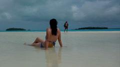 Aitutaki cook  islands 40 Stock Footage