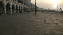 Square in Venice - stock footage