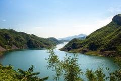 Stock Photo of the reservoir at a mountain district