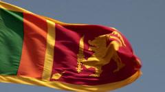 Waving Flag of Sri Lanka. Stock Footage