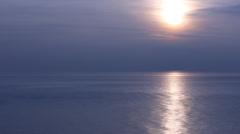 Black sea dark blue sunset Stock Footage