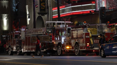 Fire Truck Engine Firefighters Car Hollywood Boulevard Los Angeles California US Stock Footage