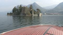 Castle on island on a lake Stock Footage