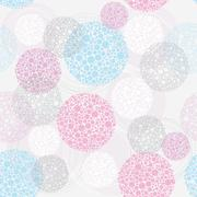 Abstract cute seamless polka dot circle background pattern. Stock Illustration