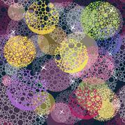 abstract cute seamless polka dot circle background pattern. - stock illustration
