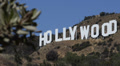 Iconic Hollywood Sign Los Angeles California Hollywood Hills Area of Mount Lee Footage