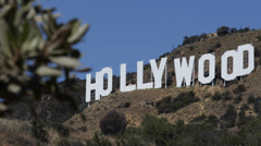 Iconic Hollywood Sign Los Angeles California Hollywood Hills Area of Mount Lee Stock Footage