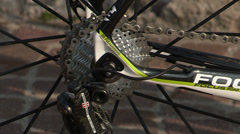 Derailleur gears on new bike Stock Footage
