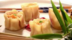 Chinese dumplings Stock Footage