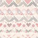Stock Illustration of abstract geometric seamless pattern. aztec style pattern with hearts.