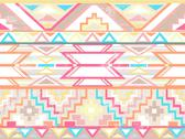 Stock Illustration of abstract geometric seamless aztec pattern. colorful ikat style pattern.