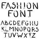 Fashion font. font with fashion accessories Stock Illustration