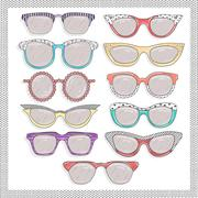Retro sunglasses set Stock Illustration