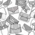 Fashion bags seamless pattern for girls Stock Illustration